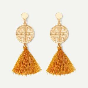 Oriental tassel earrings